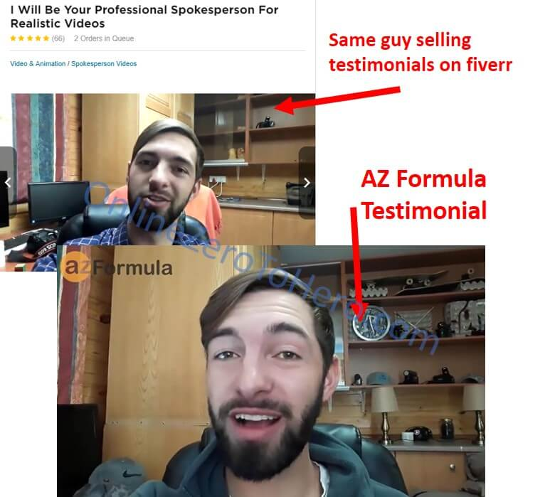 az formula fake reviews example 2