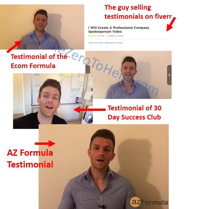 az formula fake reviews example