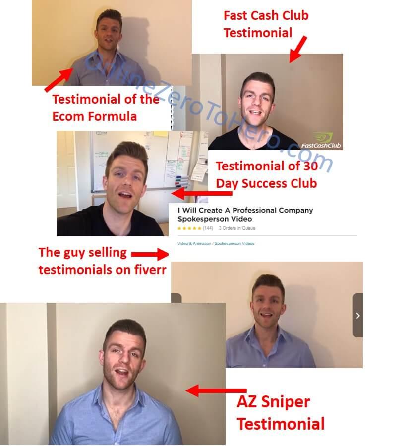 az sniper fake testimonial example 1