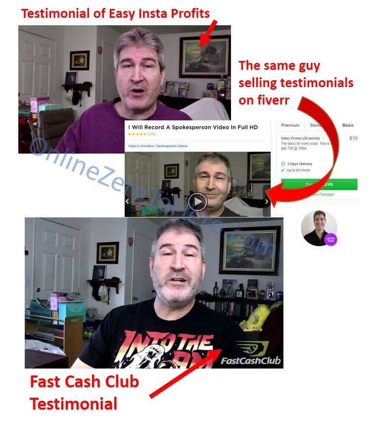 fast cash club false testimonial 2
