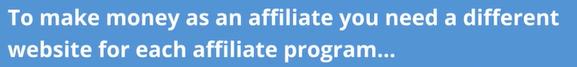 new website for each affiliate program claim