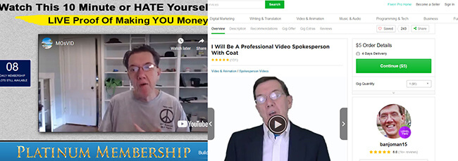 fiverr actor affiliate millionaire club