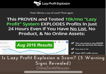 is lazy profit explosion a scam header