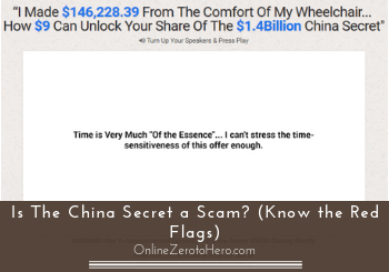 is the china secret a scam header