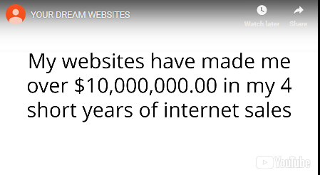 is your dream websites jake income claim