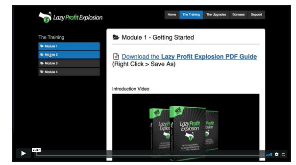 lazy profit explosion modules