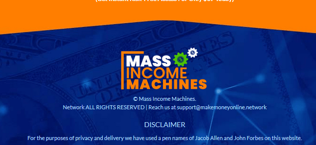 mass income machines pen names