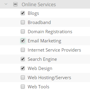 online services category on cj