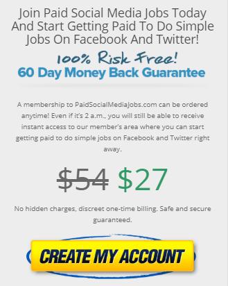 paid social media jobs price
