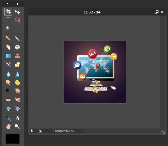 pixlr editor features