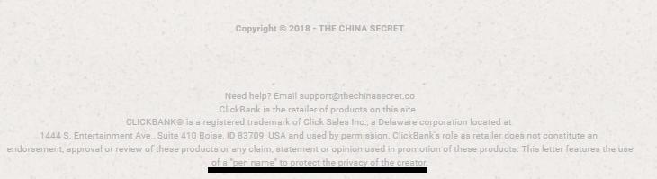 the china secret pen name