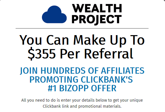 wealth project affiliate referral