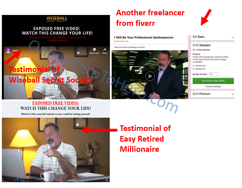 wiseball secret society fiverr actor