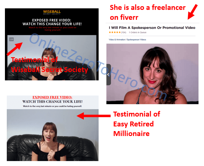 wiseball secret society fiverr actress