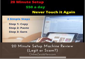 20 minute setup machine review header