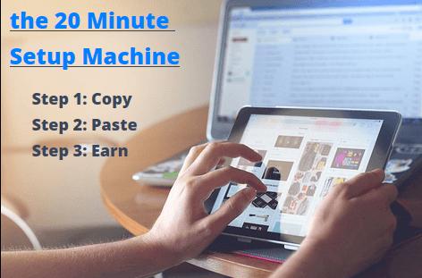 20 minute setup machine steps