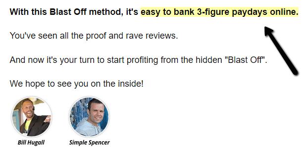 3 figure blast off review