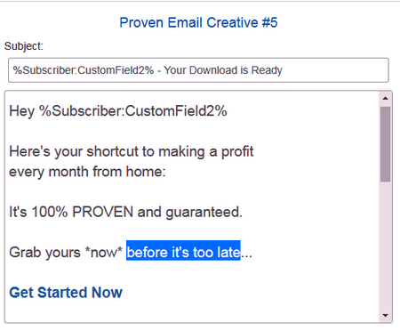 email swipes instant email empire