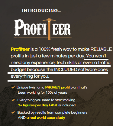profiteer no experience required