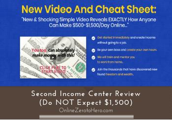 Second Income Center Review (Do NOT Expect $1,500)