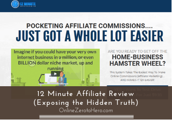 Cheap Affiliate Marketing 12 Minute Affiliate System  Availability