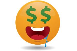 greedy emoticon