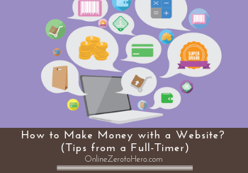 how to make money with a website header