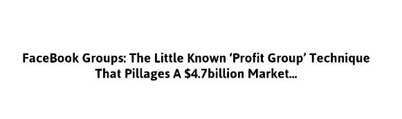 insider profit groups profit group technique