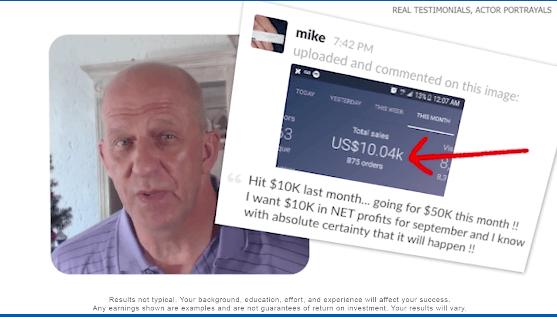 online innovations fake testimonial