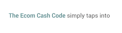 online innovations landing page for ecom cash code