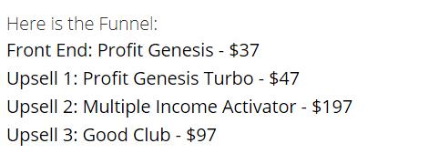 profit genesis 2.0 upsells