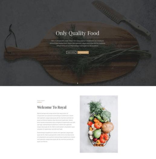 restaurant website preview