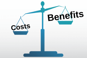 scale showing cost benefit