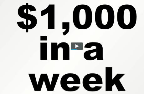 1000 per week the profit shortcut