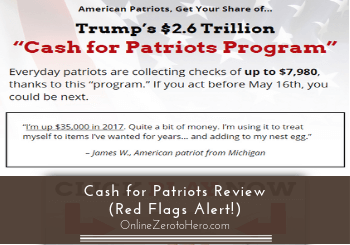 Cash for Patriots Review (Red Flags Alert!)