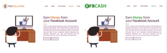 fb dollars identical sites