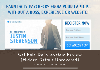 get paid daily system review header