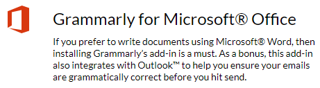 grammarly for microsoft office icon
