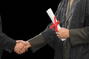 handshake to show company hiring a writer