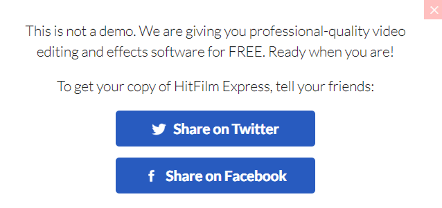 hitfilm express share to get access