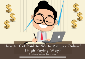 how to get paid to write articles online header