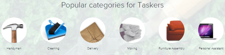 popular taskrabbit tasker categories