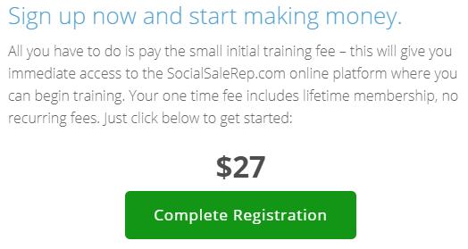 social sales rep membership fee