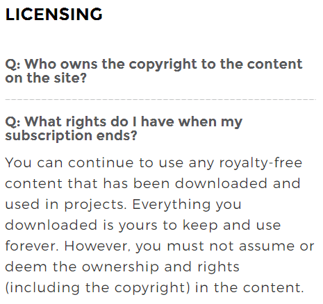 StockUnlimited licensing rights