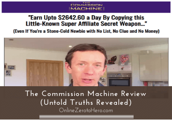 the commission machine review header
