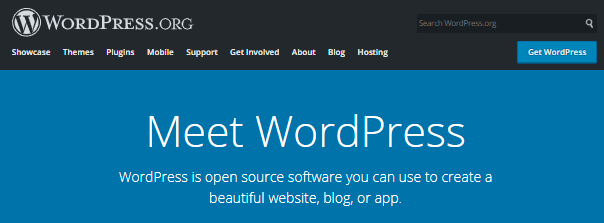 wordpress cms system banner