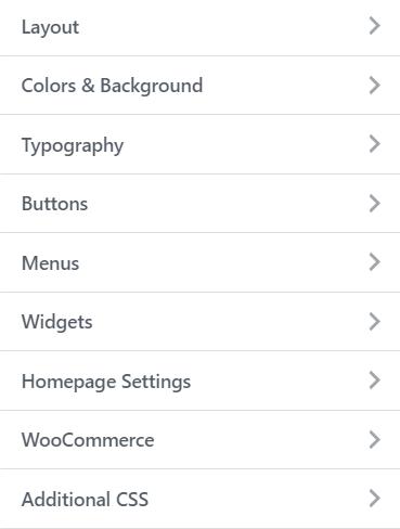 astra theme design settings