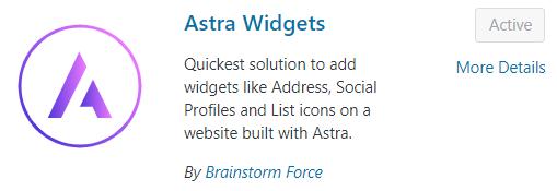astra widgets plugin