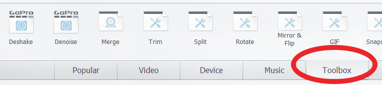 extra editing features videoproc