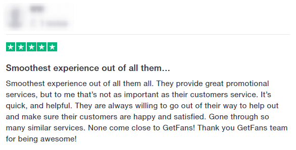 getfans positive review